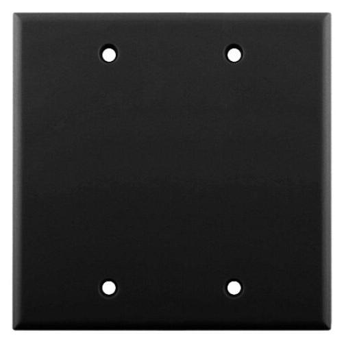 dual gang blank wall plate abs plastic
