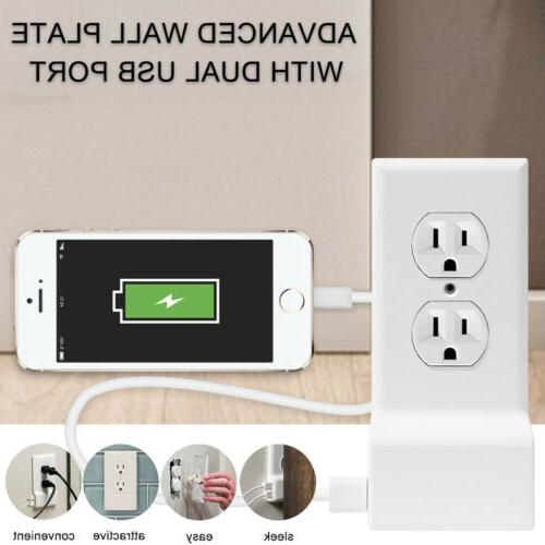 Dual Wall Plate Electrical Outlet