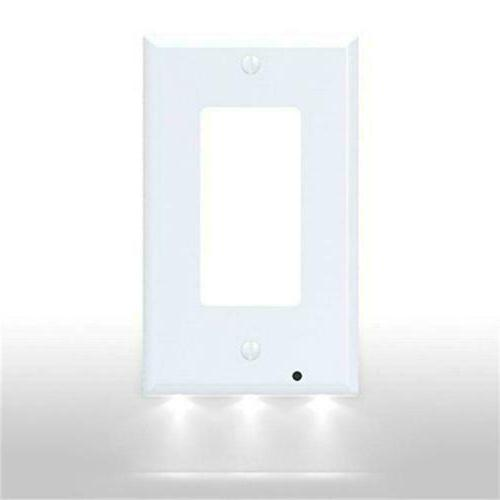 Duplex Decor Electrical Outlet Wall Plate With Sensor LED Ni