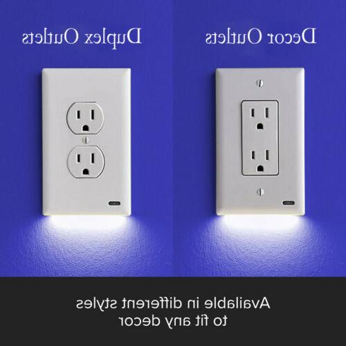 duplex decor electrical outlet wall plate