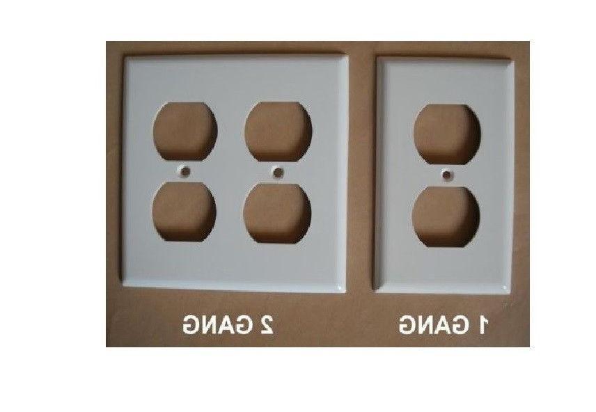 DUPLEX PLASTIC WALL PLATE 1 2 3 4 GANG