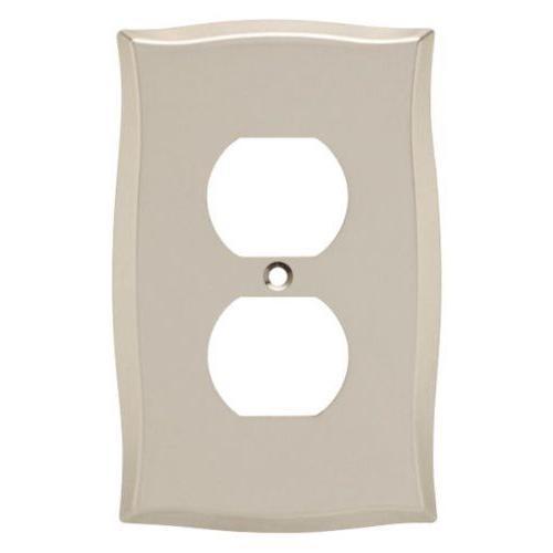 nickel duplex wall plate 144044