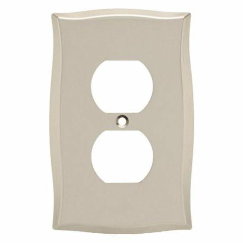 Nickel Duplex Wall Plate Brainerd 144044