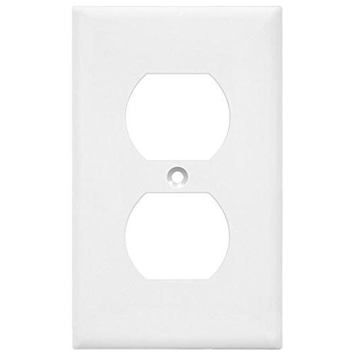 Duplex Kit by Electrical Outlet Cover, Standard Material, White Pack Port Replacement Receptacle Faceplates Covers