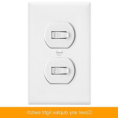 Duplex by Home Electrical Cover, Standard Size, Unbreakable Material, White - 10 Pack Port Replacement Receptacle