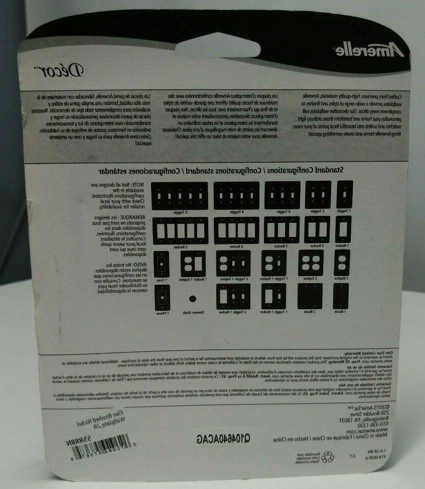 Amerelle 2 Wall Nickel New Sealed Package