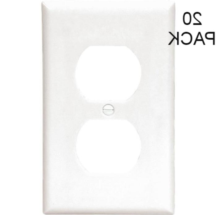 Electrical Outlet Wall Cover Plate Face Single Duplex Recept