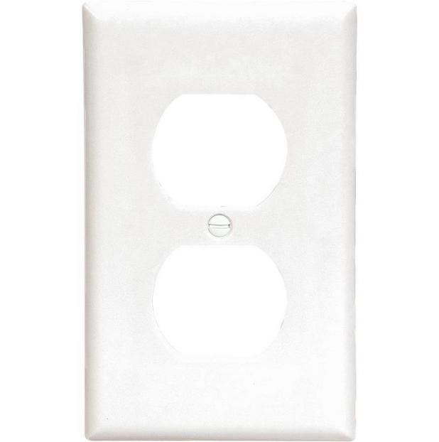 Electrical Outlet Cover Plate Single Receptacle WHITE PACKS