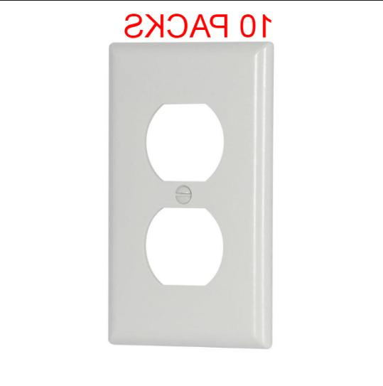 Electrical Outlet Plate Face Duplex Receptacle WHITE 20