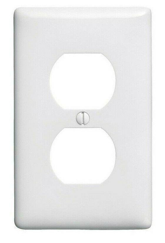 Electrical Outlet Face Plate Cover MIDSIZE WHITE