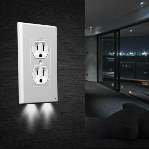 Electrical Outlet w/ LED Night Lights Sensor LED Plug Wholesale