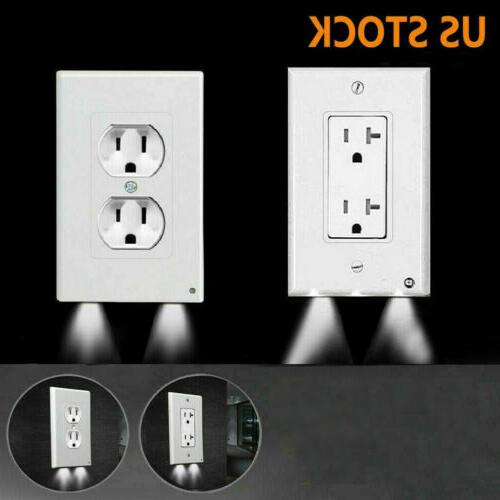 electrical outlet wall plate w led night