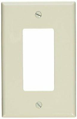 Leviton Electrical Wall Plate, Decora Midway, 1Gang Light Al