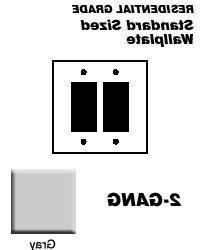 Leviton Electrical Wall Plate, Decora, 2Gang Gray