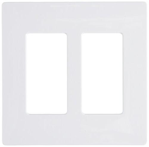 Lutron Electrical Wall Claro Decorator Screwless, 1Gang White