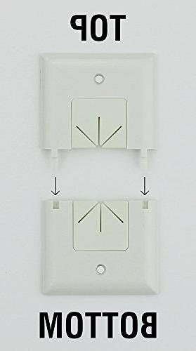 DataComm Split Style Plate with Flexible AV/HDMI Cable Pass-Through