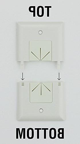 Datacomm Split Plate Flexible Opening