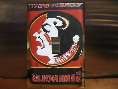 florida state seminoles light switch wall plate