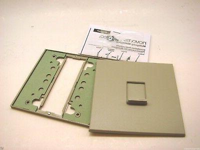 Lutron FP-WBX1-A Gray Nova T & Vareo Wallplate Faceplate New