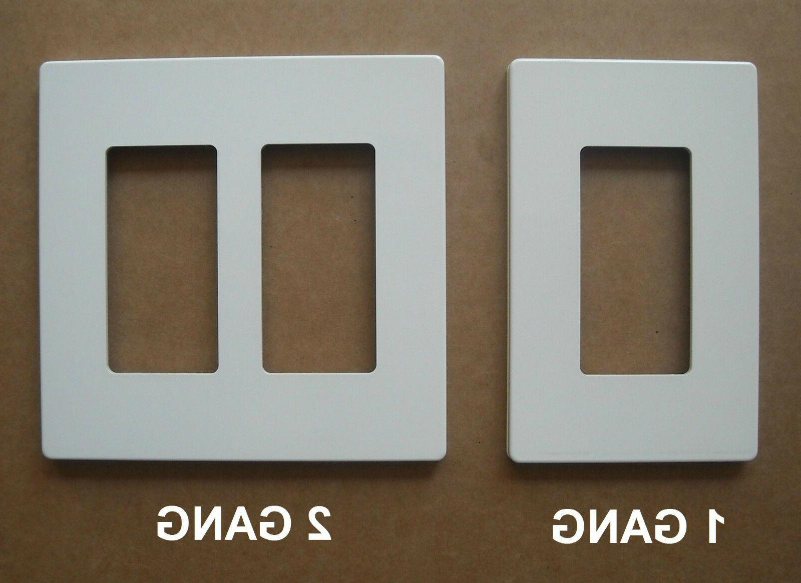 DECORA GFI SWITCH WALL SCREWLESS PLASTIC PLATE 1 2 4 WHITE