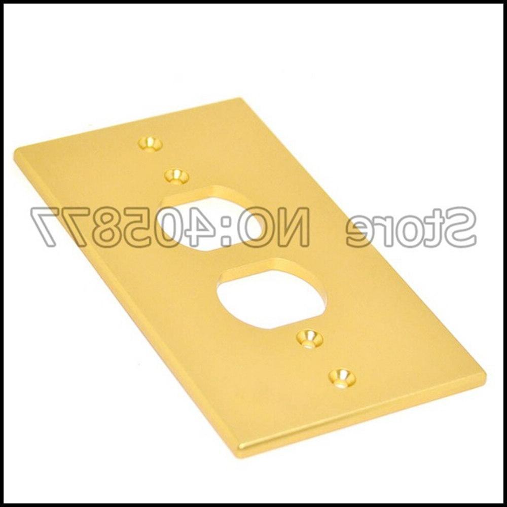 Gold/<font><b>Silver</b></font>/Black Receptacles <font><b>Wall</b></font> Cover Aluminum Panel