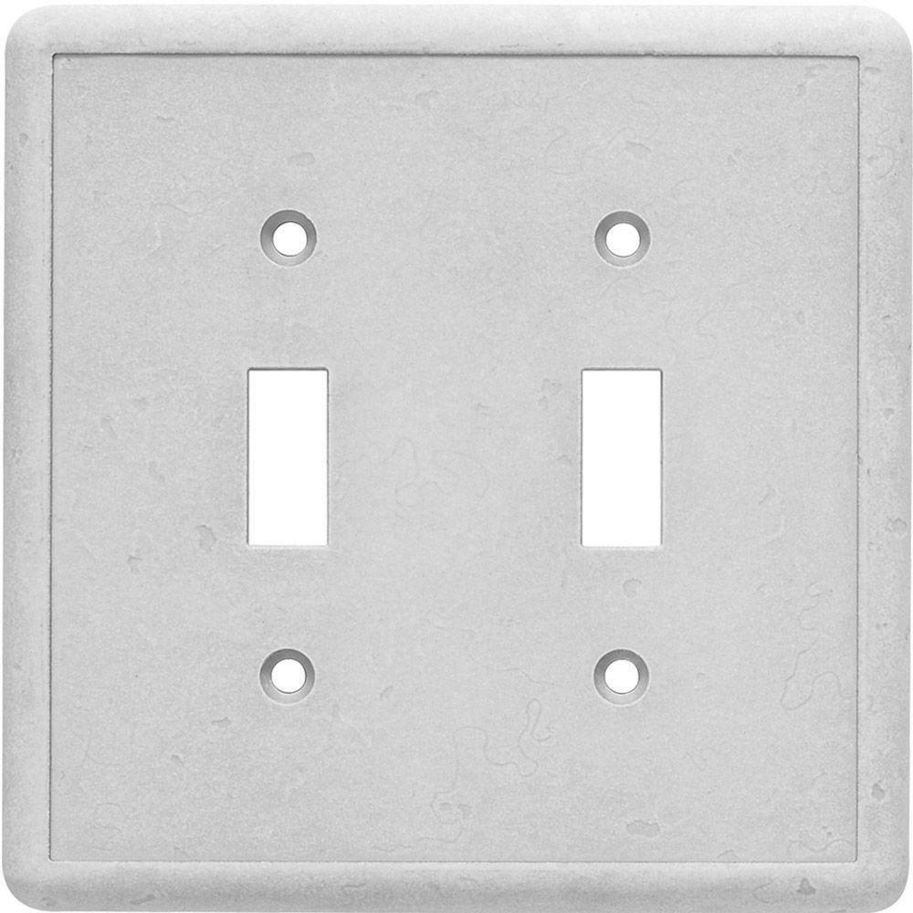 Hampton Bay Gray Decorator Wall Plate Stone Grey Finish DOUB