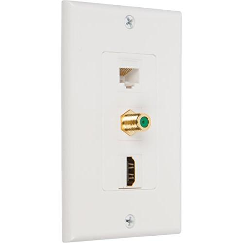 Buyer's Point Coax Wall with Single Gang Low Voltage Mounting