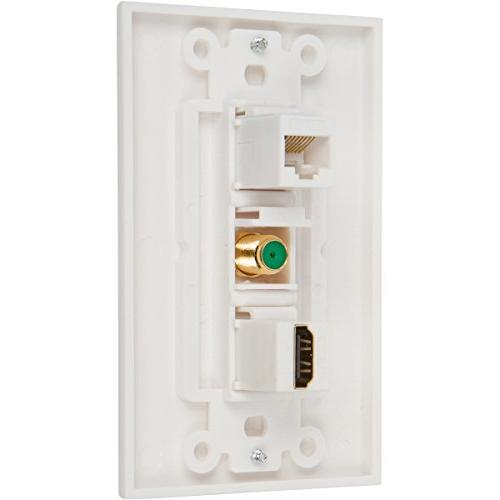 Buyer's Point HDMI Coax Wall Plate with Low