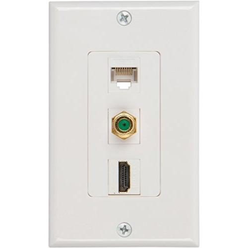 Coax Ethernet Wall with Voltage Mounting Bracket
