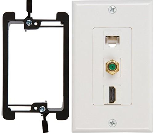 hdmi coax ethernet wall plate