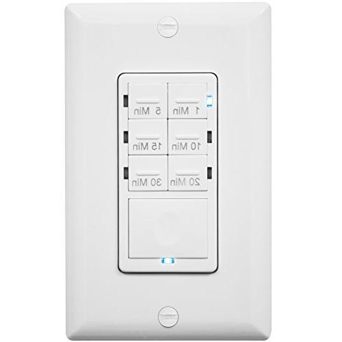 Preset Switch, Decorator Plate, White