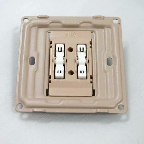 Home Plate Electrical 10A 2 Way Plate Switch White US