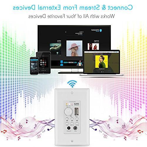 Wall Mount Bluetooth Receiver - WiFi Wireless