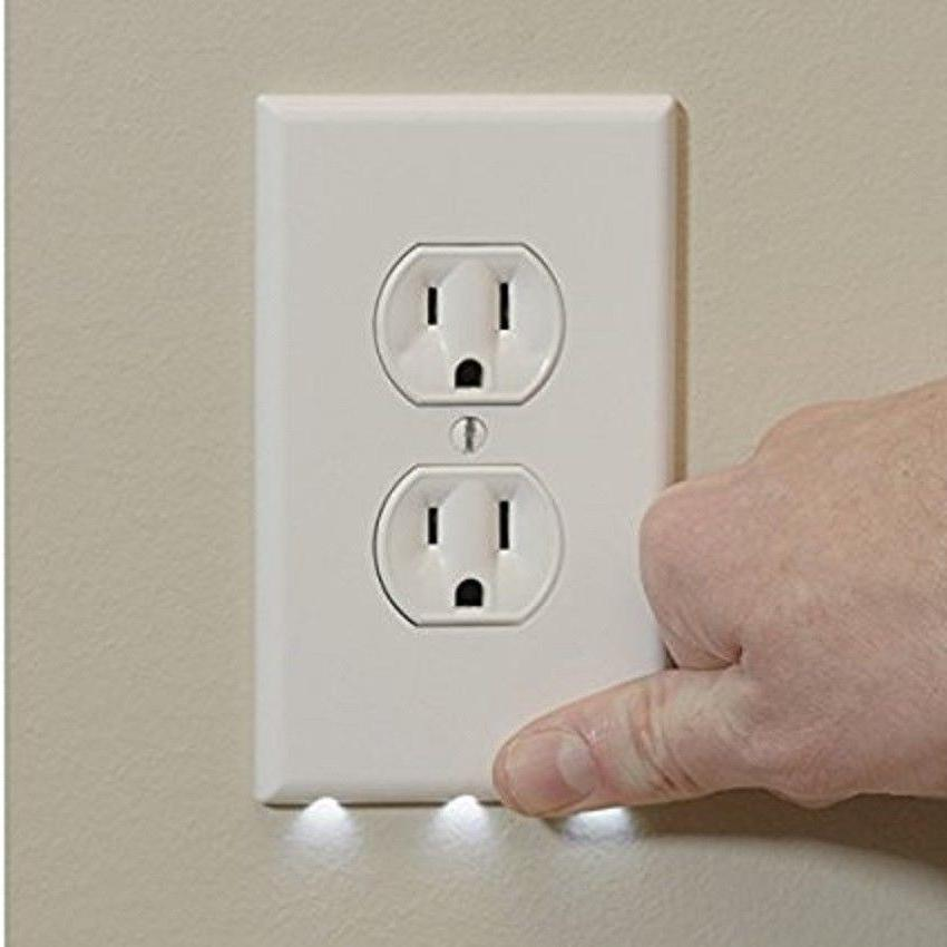 led lights wall plug cover outlet cover