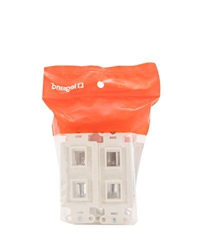 Legrand - 2-Port Keystone Decorator White, 10 Pack