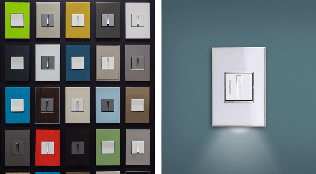 legrand wall plates many colors and sizes