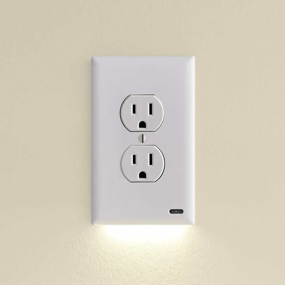 Light Electrical Outlet Wall Plate With LED Night Lights Aut