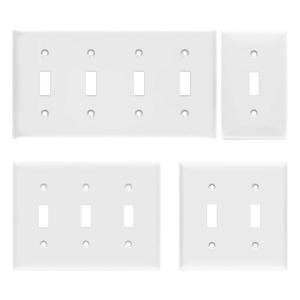 light switch toggle plug plastic wall cover