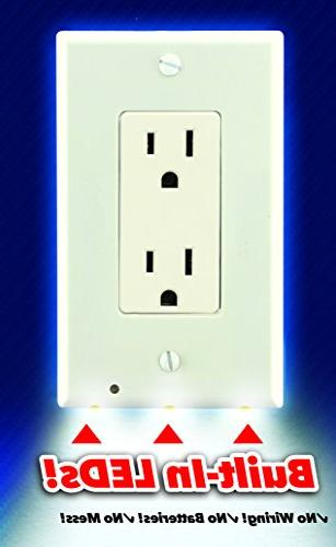 Night Lighted Wall Outlet Light LED for Outlets