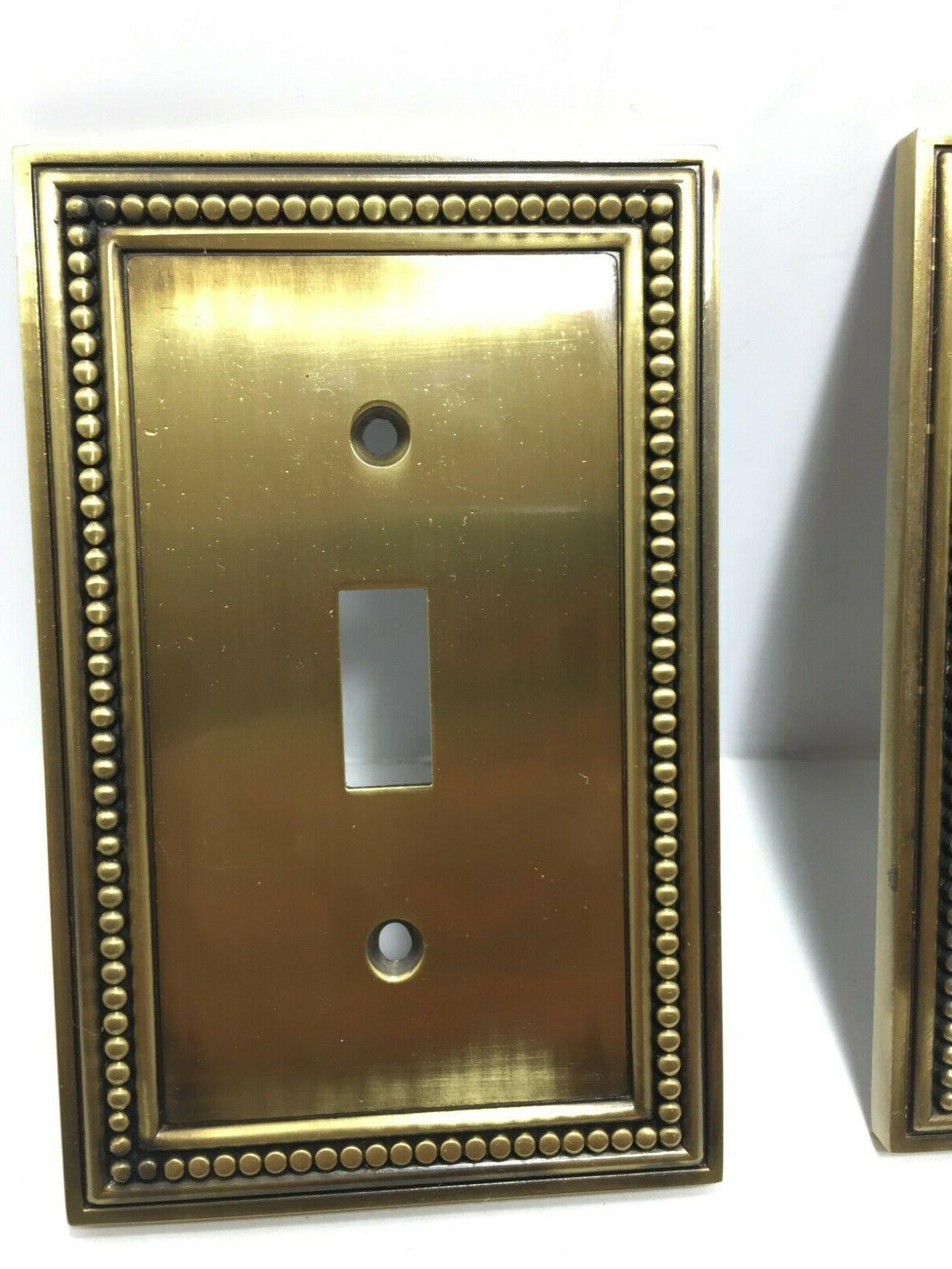 Lot 2 LHMC Beaded Gold Switch Plates