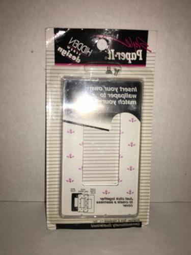 Lot of 2 AMERTAC STYLE PAPER IT SWITCH WALL PLATE WITH HARDW