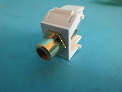 LOT NEW ON-Q WP3462-WH RCA TO F-CONNECTOR JACK