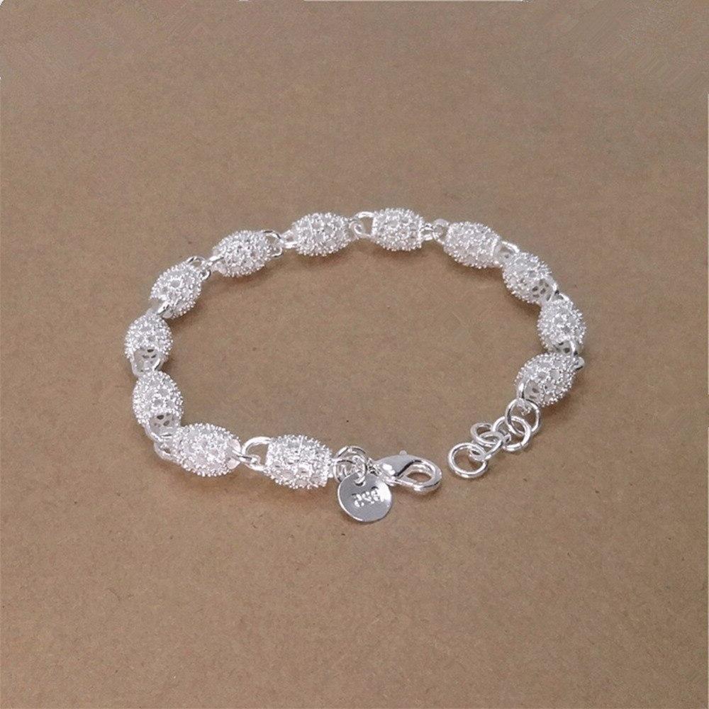 Bracelet <font><b>Silver</b></font> Bangle Jewelry Hollow <font><b>Wall</b></font> <font><b>Plate</b></font> <font><b>Silver</b></font> Hand