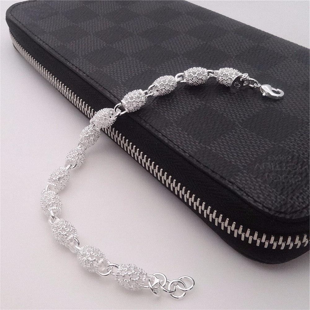 Lovely Bracelet Charm Chain Bangle <font><b>Wall</b></font> <font><b>Silver</b></font> Plated Hand Chain