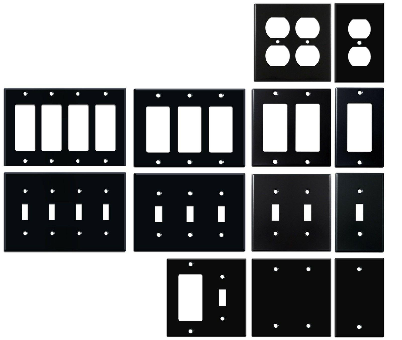 matte black electrical metal wall plate covers