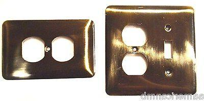 metal wall plate single switch duplex outlet
