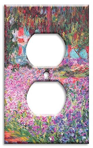 monet the artist s garden switch plate