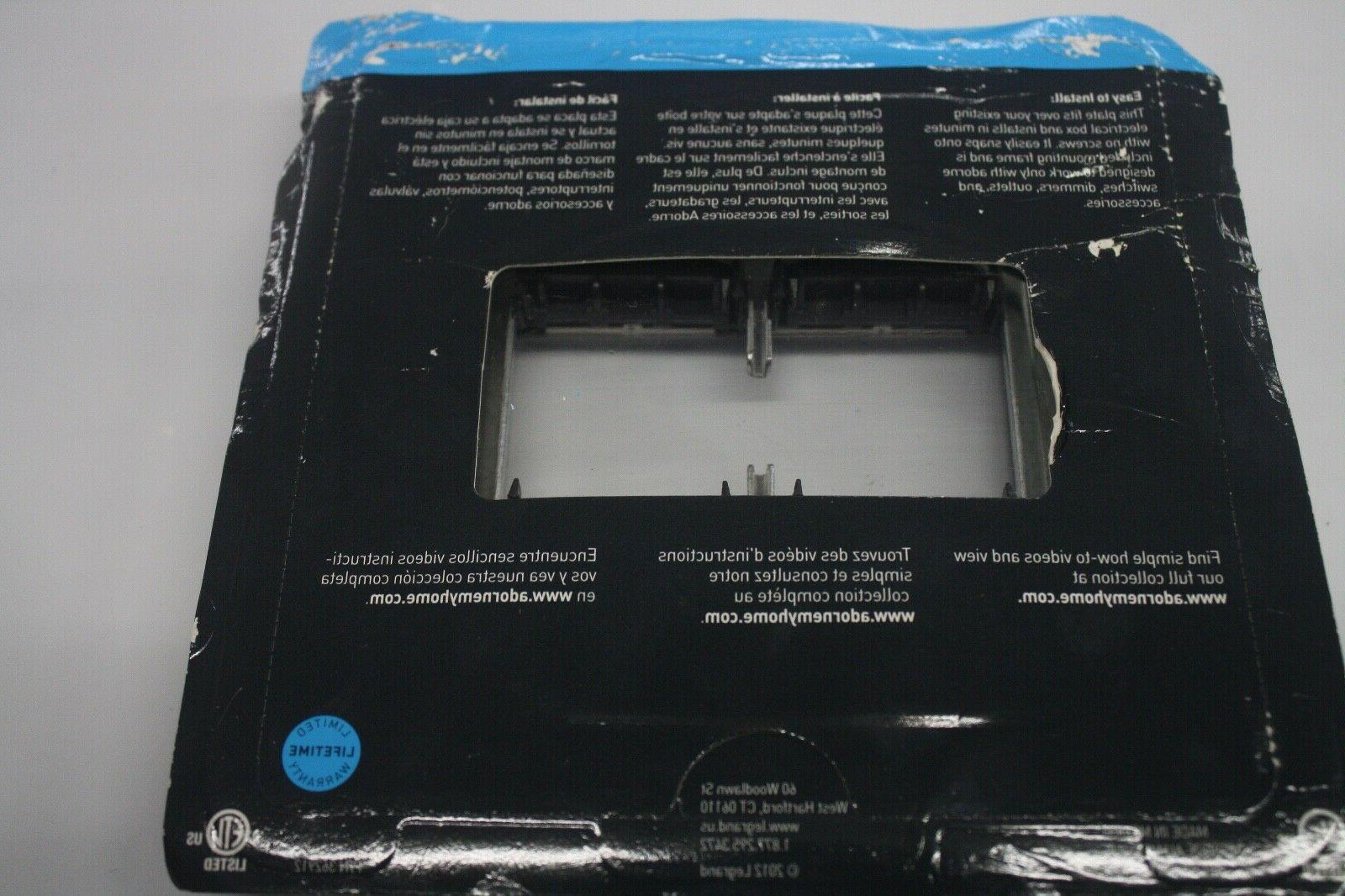NEW Legrand Plate Outlet Adorne Gang Brushed