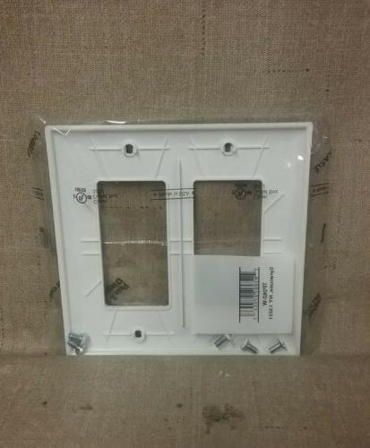New & Double White Plate Cover TP262-W 1