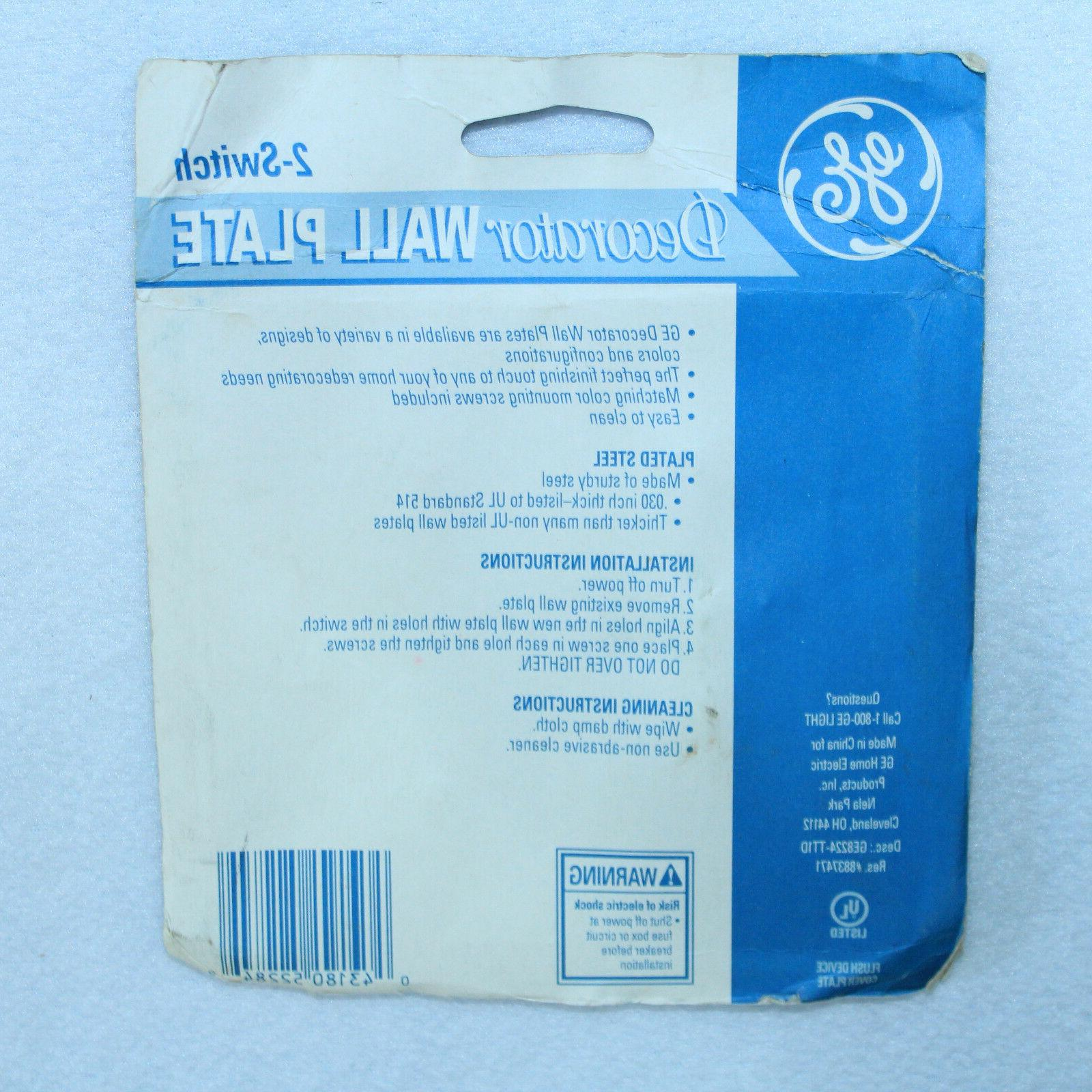 NEW SEALED GE Wall Light 2-Switch Steel